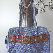 Rare Vera Bradley French Blue Baby Diaper Bag Large Photo