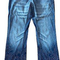 Rare Versace J Couture Vintage Unique Glitter Jeans Pants  Denim 27/41 Photo