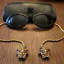 Rare Versace Medusa Gold Chain Accented Sunglasses  Photo