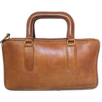 Rare Vintage 1970's Coach Bonnie Cashin Briefcase Brown Leather Purse Bag Nyc Photo