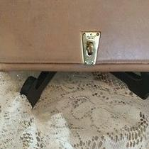 Rare Vintage Authentic Tan Leather Gucci Wallet With Gold Turnlock  Photo