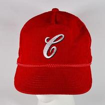 Rare Vintage Campbell Soup 'C' Red Corduroy Cap Snapback Hat Embroidered Photo