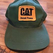 Rarevintage Cat Diesel Power Snapback Hat John Deer Green With Cat Logo Photo