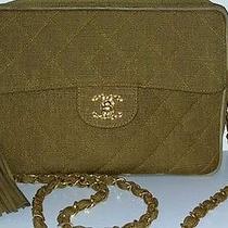 Rare Vintage Chanel Linen Camera Flap Bag --Sale -- Photo