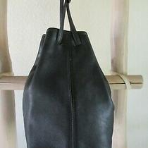 Rare Vintage Coach 9165 Andrea Black Glove Leather Bucket Shoulder Bag Usa Photo