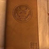 Rare Vintage Coach Glove Tanned Cowhide Us Great Seal Passport Case Wallet - New Photo