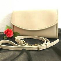 Rare Vintage Coach Sterling Clutch 9945 Shoulder Bag Bone (Cream) Leather - Euc Photo