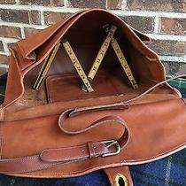 Rare Vintage Distressed 1970's Coach Baseball Glove Leather Briefcase Bag R898 Photo