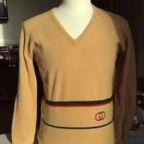Rare Vintage Eighties Gucci Scottish Lambswool v Neck Sweater Photo