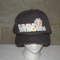 Rare Vintage Element Skateboards Official Snapback Hat- Awesome- Rare- Nr Photo