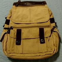Rare Vintage Fossil Brand Canvas Backpack. Used. Photo
