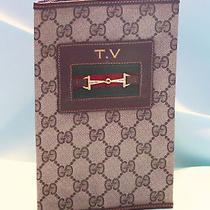 Rare Vintage Gucci Tv Guide or Notebook Agenda Cover Brown Perfect Photo