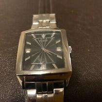 Rare Vintage Guess Stainlesss Steel Watch U10516g1 Black Dial Square Rectangle Photo