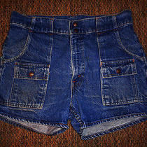 Rare Vintage Levis Bush / Safari Orange Tag Original Shorts Waist 34 Photo
