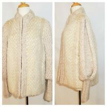 Rare Vintage Silverman Furs Blonde Tan Mink Blush Pink Mohair Stroller Coat M/l Photo