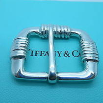 Rare Vintage Tiffany & Co. Sterling Silver Mens Belt Buckle Photo