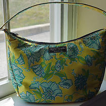 Rare Vintage Unique Kate Spade for Lilly Pulitzer Yellow Aqua Green Bag Purse Photo