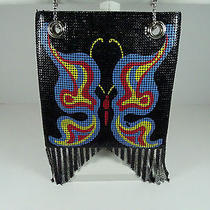 Rare Vintage Whiting & Davis Mesh Butterfly Motif Handbag/purse/bag Made in Usa Photo