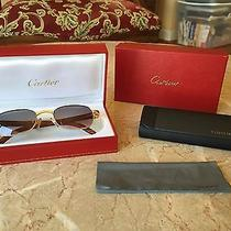 Rare Vintage Wood & Gold Cartier Sunglasses Photo