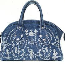 Rare Vivienne Westwood Blue Denim Orb Handbag  Photo