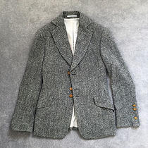 Rare Vivienne Westwood Man Label Grey Wool Tweed Fitted Blazer Size 48 Euro Photo