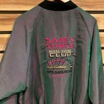 Rare Vtg 80s/90s Sams Town Las Vegas Royal Flush Club Iridescent Jacket Surf Xl Photo