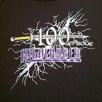 Rare Vtg 90s Highlander 100th Episode Promo Shirt Tv Show Sci-Fi Fantasy Macleod Photo