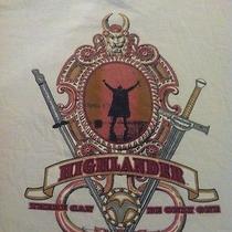 Rare Vtg 90s Official Highlander Movie Promo Shirt 80s Sci-Fi Fantasy Tv Show  Photo