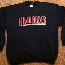 Rare Vtg 90s Official Highlander Movie Promo Sweatshirt Sci-Fi Fantasy Tv Show  Photo