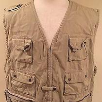 Rare Vtg Gap Khaki Zip Up Men's Pocket Safari Photography Khaki Vest Size Xl Photo