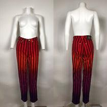 Rare Vtg Gianni Versace Jeans Couture Red Ombre Stripe Jeans S Photo