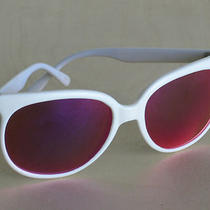 Rare Vtg Revo White Ski Sunglasses Frames Rose Hue Lens Great Condition Photo