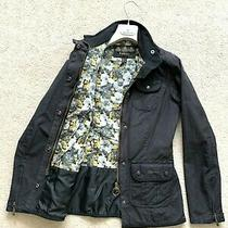 Rare Women's Barbour Waxed Kate Jacket Liberty Print Coat Uk 8 Us 4 Eu 36 Xs - S Photo