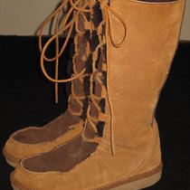 Rare Womens Ugg Whitley Suede Tall Boots S/n 5230 Size 8 Chestnut/espresso Photo