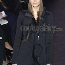 Rare Yves Saint Laurent Runway Ysl by Tom Ford Fall 2003 Black Coat Photo