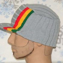 Rasta Commando Winter Visorskullhathippiejamaicancapbeanieski 452 Gray Photo
