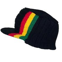 Rasta Commando Winter Visorskullhathippiejamaicancapbeanieski 452 Black Photo