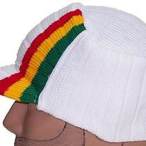 Rasta Commando Winter Visorskullhathippiejamaicancapbeanieski 452 White Photo