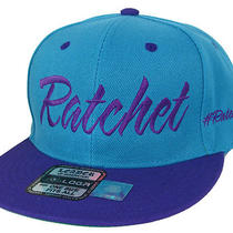 Ratchet Vintage Style Ratchetlife Flat Bill Snapback Hip Hop Cap Aqua-Black Photo