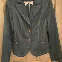 Ravens Khaki Green Blazer Size 8 Jacket Rose Gold Copper Buttons Photo
