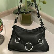Raviani Designer Western Texas Purse Black Leather Sparkling Swarovski  Bag Chic Photo