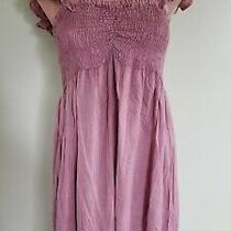 Raviya Blush Pink Off Shoulder Ruffled Beach Dress Swimsuit Cover Up Size S Ab34 Photo