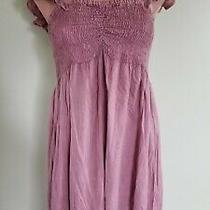 Raviya Blush Pink Off Shoulder Ruffled Beach Dress Swimsuit Cover Up Size M Ab30 Photo