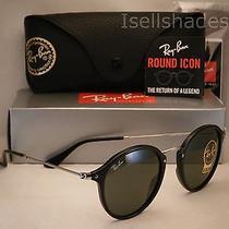 Ray Ban 2447 Black W Green Lens  New Sunglasses (Rb2447 901) Photo