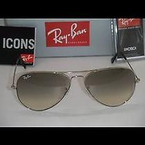 Ray Ban Aviator 58mm Excellent Like New Photo