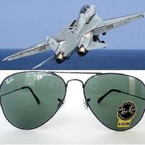 Ray-Ban Aviator Sunglasses 3025 Unisex 58mm Size Gunmetal With Green Lens Photo