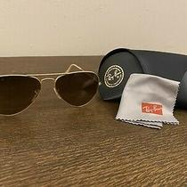 Ray-Ban Aviator Sunglasses - Gold Frame With Brown Polarized Lens Photo