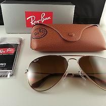 Ray Ban Aviator Sunglasses Large Metal Ii Gold Frames 62mm Brown Gradient Lens Photo