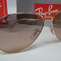 Ray-Ban Aviator Sunglasses Rb3025 001/3e Gold Framepink/brown 55mm Lens Rb 3025 Photo