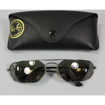 Ray Ban Black Metal Round Eye Sunglasses in Case  Photo
